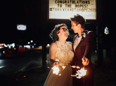 Estes Park LGBTQ Wedding at Trout Haven Resorts