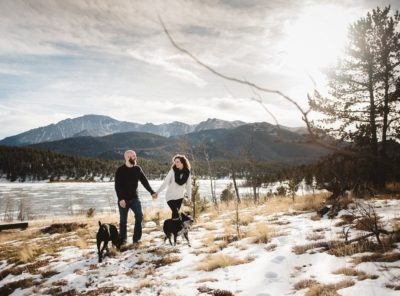Crystal Creek Reservoir Engagement Photos in Colorado Springs