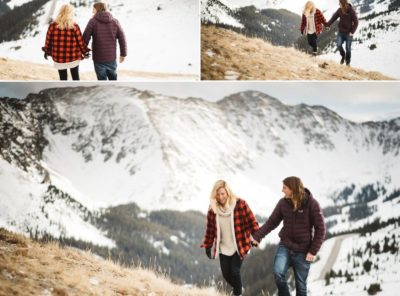 Loveland Pass Engagement Photos in Colorado