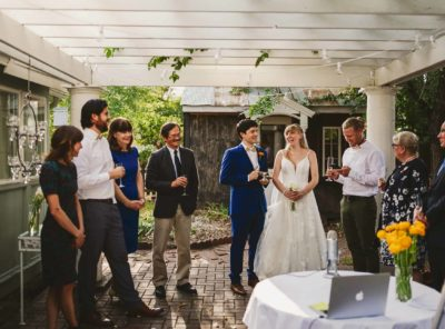 How to plan the perfect backyard zoom wedding!